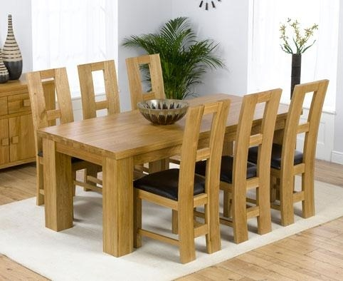 Fabulous Dining Table And Chairs With Oak Pedestal Dining Table With Latest Oak Dining Tables And Chairs (Image 8 of 20)
