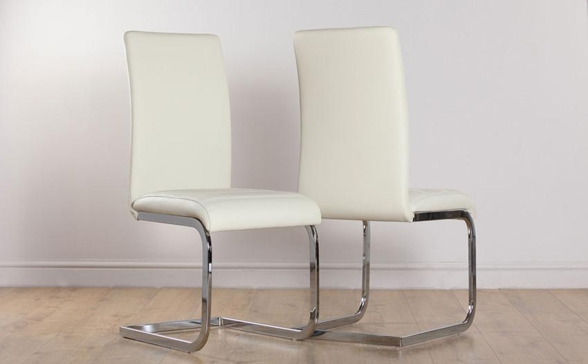 Fabulous Ivory Dining Chairs With Perth Ivory Leather Dining Chair Intended For Most Popular Alcora Dining Chairs (View 2 of 20)
