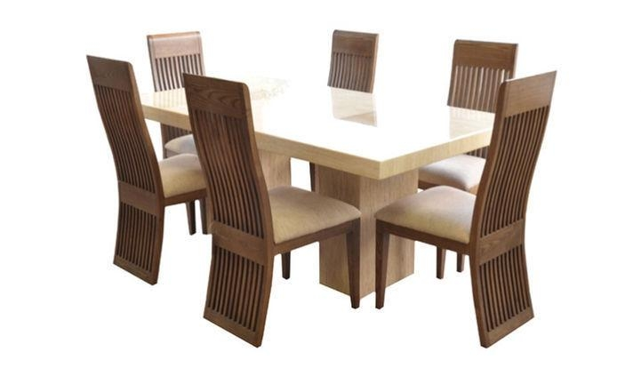 Fabulous Marble 1.8M Dining Table And 6 Chairs (Image 10 of 20)