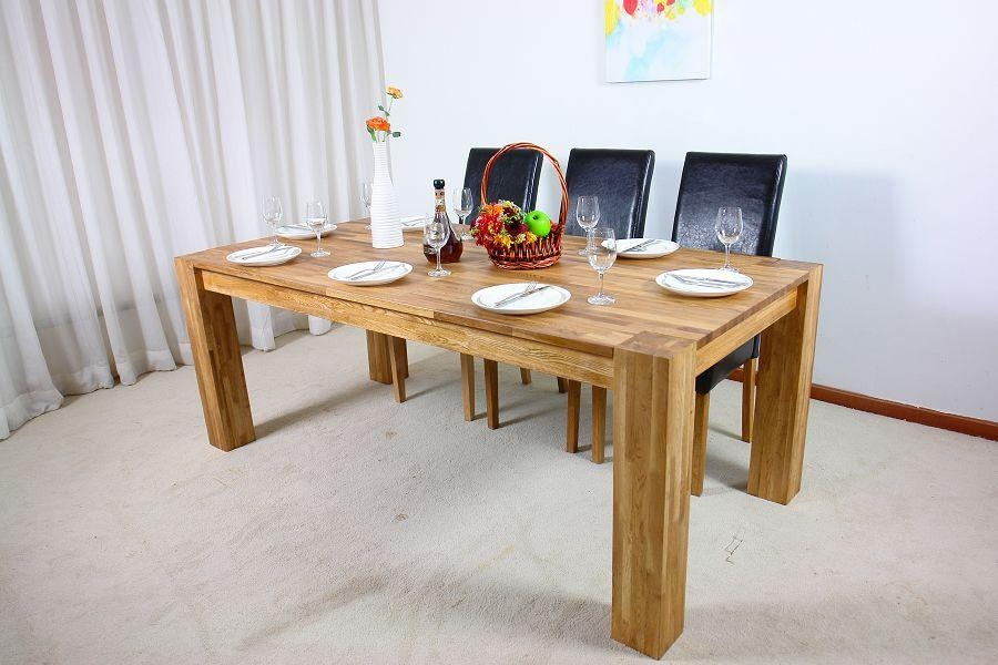 Fabulous Real Wood Dining Table With All Wood Dining Room Table With Regard To Newest Solid Oak Dining Tables (Image 11 of 20)