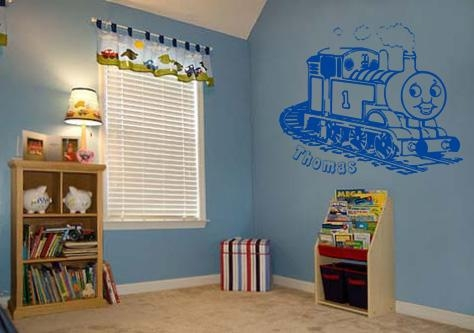 Fabulous Thomas The Tank Engine Wall Decal Vinyl Art Sticker Wall Inside Thomas The Tank Wall Art (Image 3 of 20)