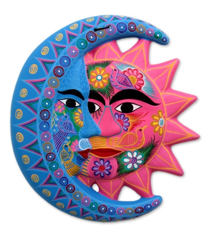 Fair Trade Sun And Moon Ceramic Wall Art – Nature's Eclipse | Novica With Regard To Mexican Ceramic Wall Art (Image 8 of 20)