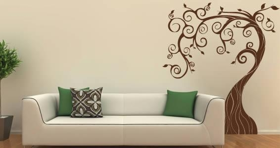 Fairy Tree Wall Decals | Dezign With A Z Throughout Wall Cling Art (Image 6 of 20)