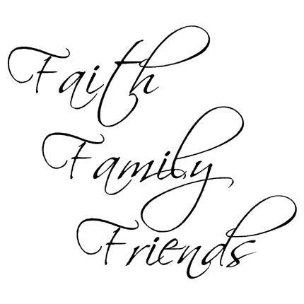 Faith Family Friends 1 Wall Words Vinyl Wall Art Decal For Faith Family Friends Wall Art (View 8 of 20)