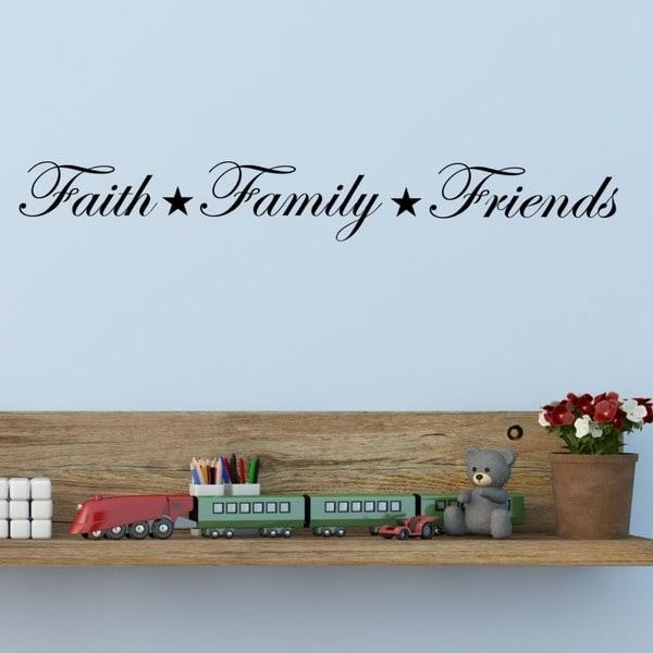 Faith, Family, Friends' Vinyl Wall Art Decal – Free Shipping On In Faith Family Friends Wall Art (View 2 of 20)