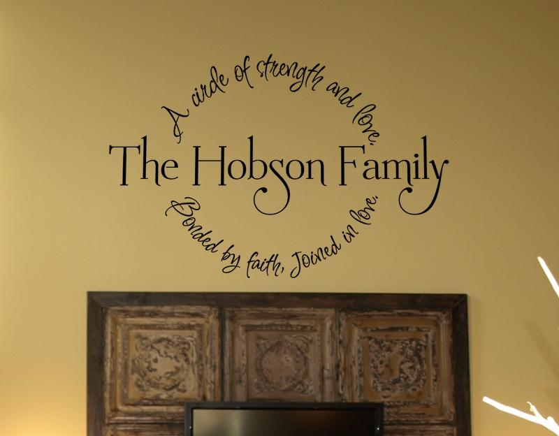 Family Circle Bondedfaith Wall Decal Item – Trading Phrases Pertaining To Faith Family Friends Wall Art (View 15 of 20)