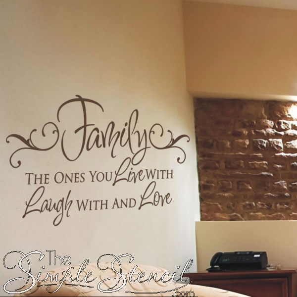 Family Love Quotes | Vinyl Wall Decals | The Simple Stencil With Wall Cling Art (View 14 of 20)