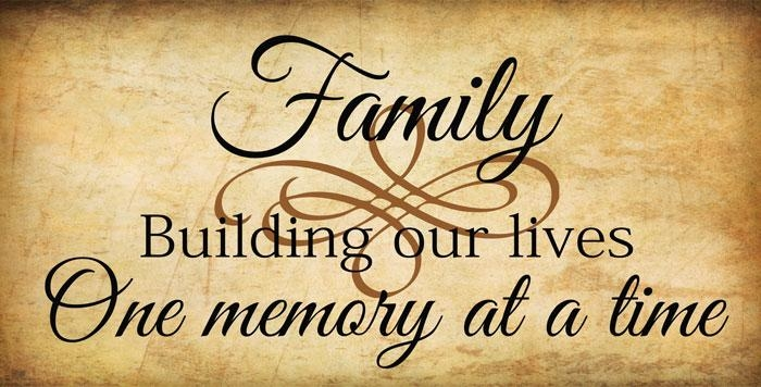 Family Quotes & Sayings On Life | Wall Decals & Stickers, Family Regarding Family Sayings Wall Art (Image 10 of 20)