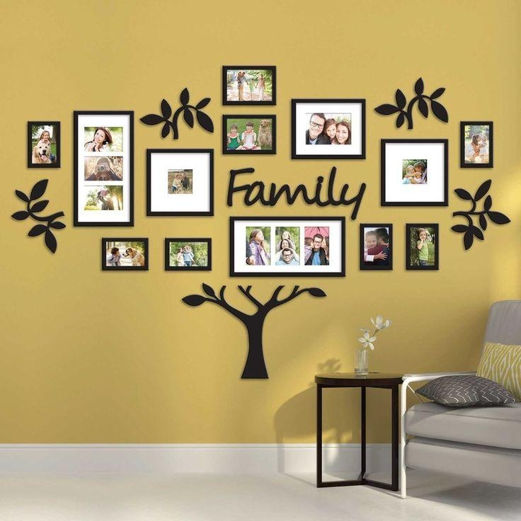 Family Tree Collage Picture Plaque Photo Wall Art Mount Wedding With Family Wall Art Picture Frames (Image 6 of 20)