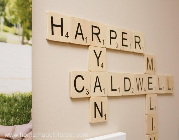 Family Wall Art: Scrabble Edition Throughout Scrabble Names Wall Art (View 10 of 20)