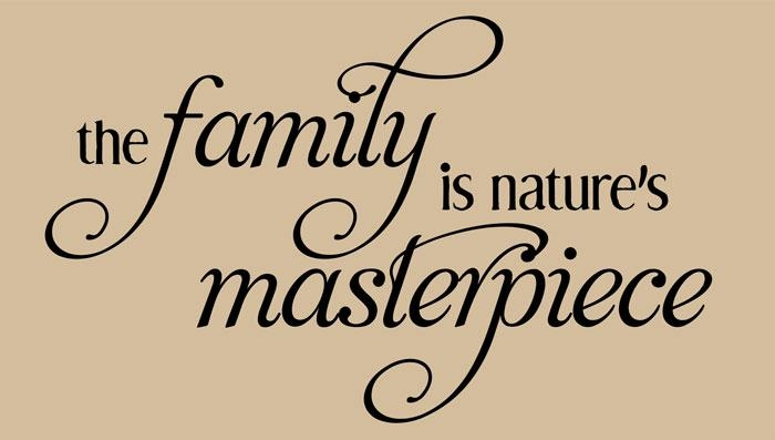 Family Wall Art | The Family Natures Masterpiece Intended For Family Sayings Wall Art (Image 14 of 20)