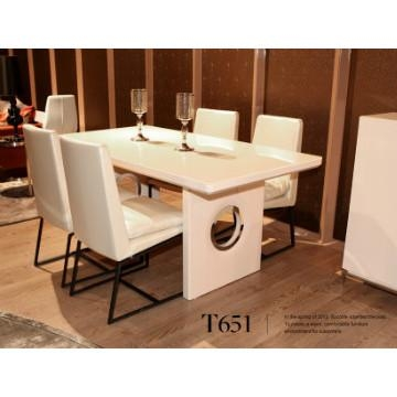 Fancy Mdf Dining Table Tempered Glass In Cream Color And Mdf In 2018 Cream High Gloss Dining Tables (View 14 of 20)