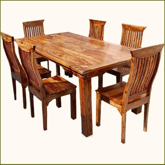 Fancy Real Wood Dining Table With Dining Room Top Solid Wood Table Inside 2018 Wood Dining Tables (Image 14 of 20)