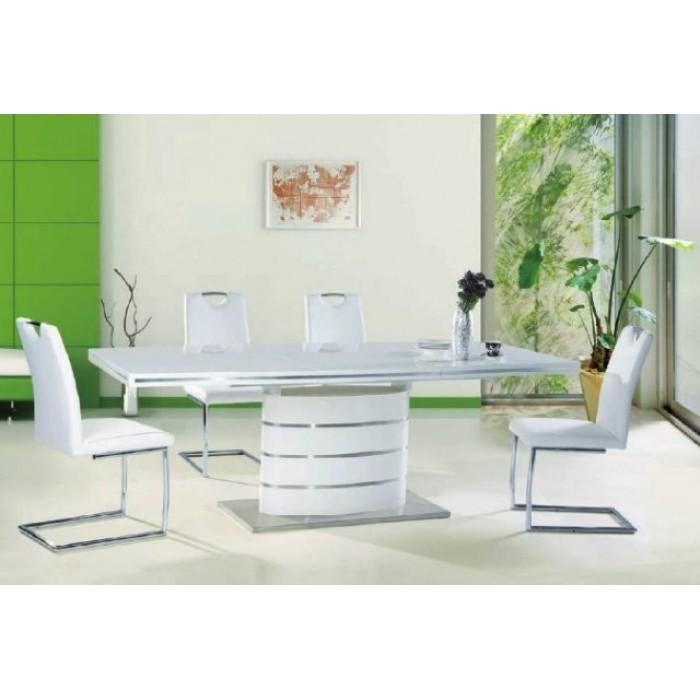 "Fano"" 140 Cm White High Gloss Modern Extendable Dining Table Within Most Recently Released White Gloss Dining Tables 140Cm (View 5 of 20)"