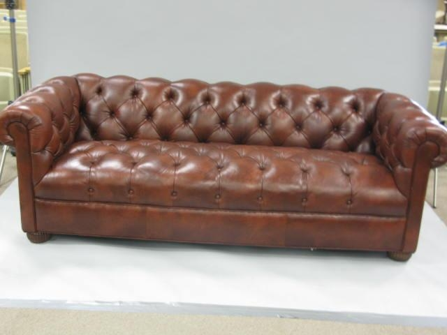 Fantastic Ethan Allen Leather Sofa Auction Catalog Nadeaus Auction In Ethan Allen Chesterfield Sofas (Image 14 of 20)