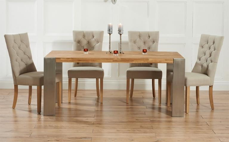Fantastic Extendable Dining Table Set With Round Extending Oak For 2017 Oak Extendable Dining Tables And Chairs (View 9 of 20)