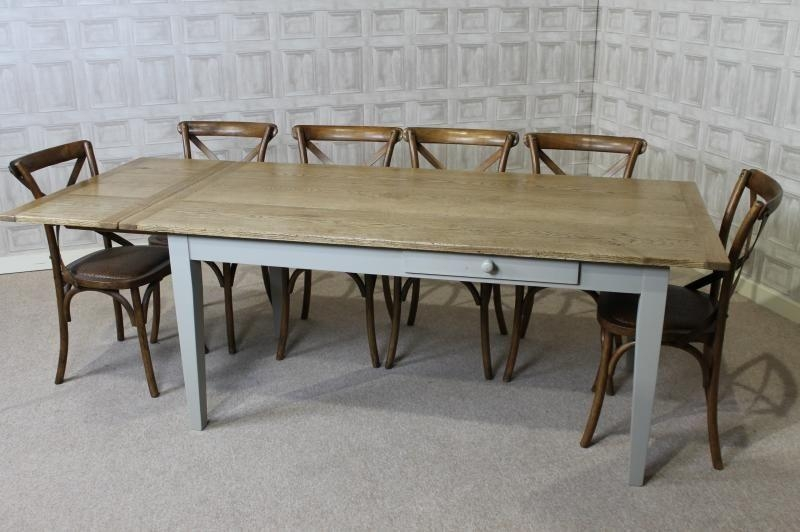 Farmhouse Extendable Dining Table – Insurserviceonline In Most Recent Oak Extending Dining Sets (Image 8 of 20)