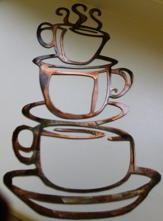 Fascinating 3D Metal Coffee Cup Wall Art Coffee Metal Art Wall Pertaining To Metal Wall Art Coffee Theme (View 17 of 20)