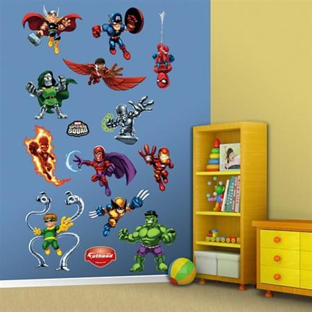 Fathead Super Hero Squad Wall Graphic In Superhero Wall Art Stickers (Image 13 of 20)
