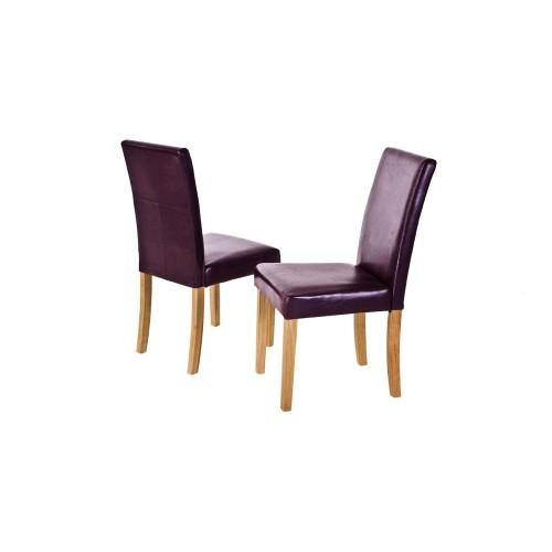 Featured Image of Purple Faux Leather Dining Chairs