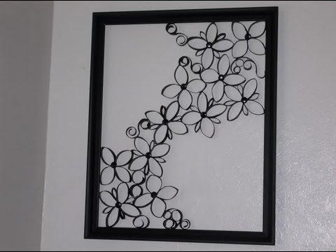 Faux Wrought Iron Wall Art For Under $5 – Youtube Within Large Wrought Iron Wall Art (View 14 of 20)