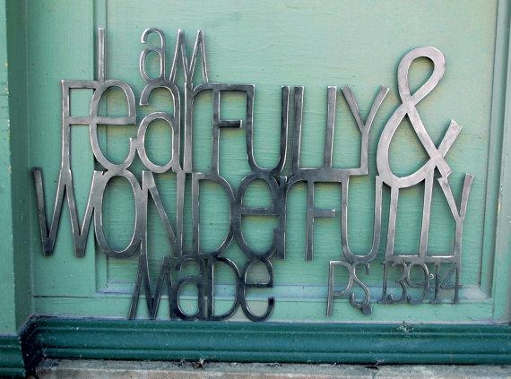 Fearfully And Wonderfully Made Metal Scripture Wall Art For Inside Fearfully And Wonderfully Made Wall Art (Image 11 of 20)