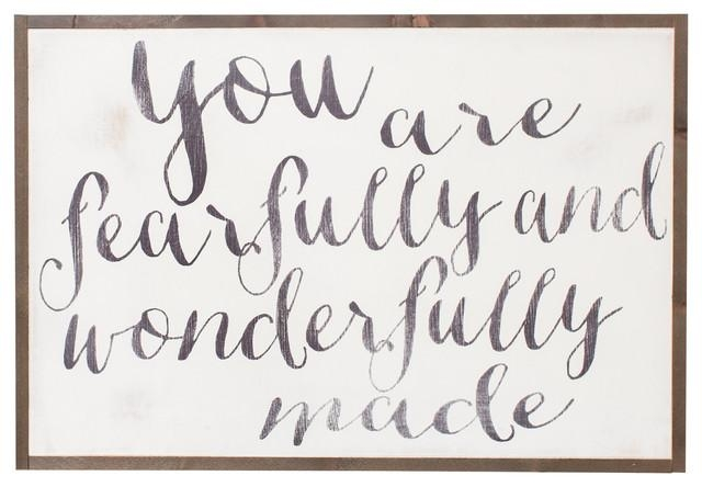 "Fearfully And Wonderfully Made"" Sign, 3X2 Ft (View 13 of 20)"