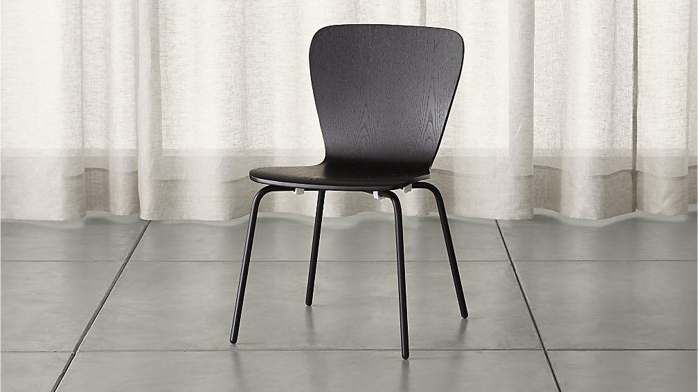 Felix Black Dining Chair | Crate And Barrel With Most Recent Black Dining Chairs (View 4 of 20)