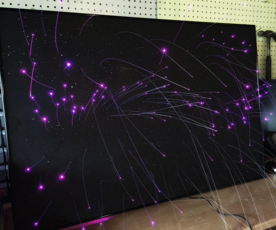 Fiber Optic Star Ceiling Panel With Day Time Stars: 14 Steps (With With Regard To Fiber Optic Wall Art (View 15 of 20)