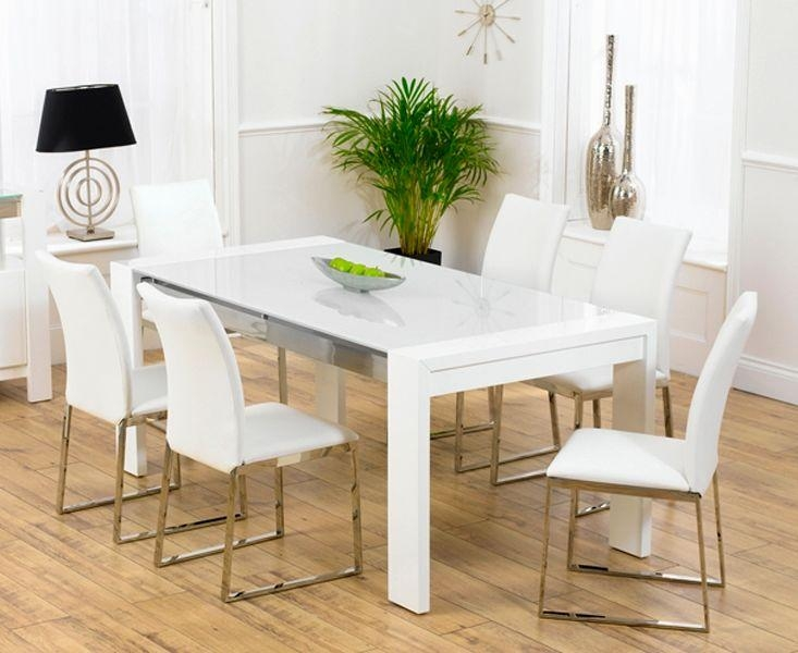 Finest White Gloss Dining Table 140Cm Décor | Table Decor And In Most Current White Gloss Dining Tables 140Cm (Image 6 of 20)