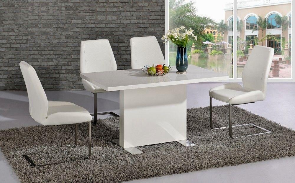 Finest White Gloss Dining Table 140Cm Décor | Table Decor And Throughout Newest White Gloss Dining Tables 140Cm (View 3 of 20)