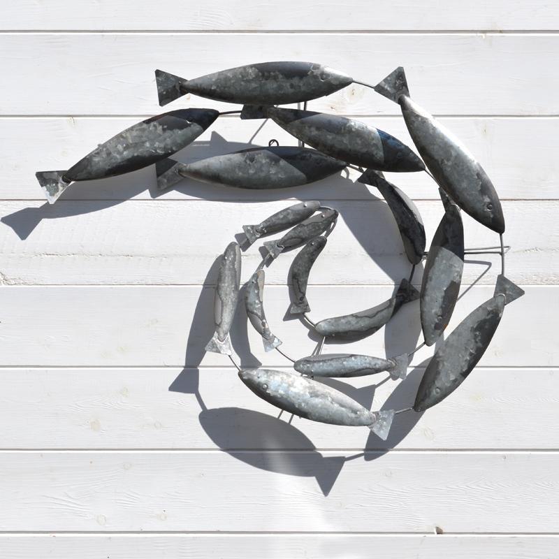 Fish Swirl Wall Art – Metal – Coastalhome.co (Image 8 of 20)