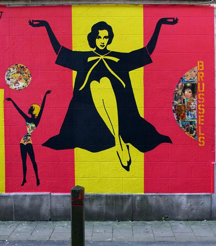 Fkdl And His Vintage Glamour Women : Brooklyn Street Art Pertaining To Glamorous Audrey Hepburn Wall Art (Image 16 of 20)