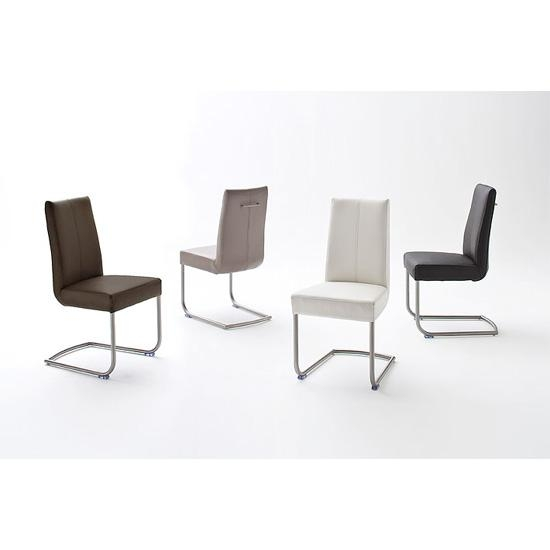 Flair Pu Leather Dining Chair With Chrome Legs 19967 For Most Up To Date Chrome Leather Dining Chairs (View 9 of 20)