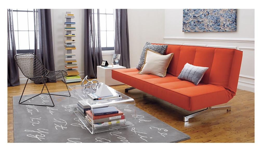 Flex Orange Sleeper Sofa | Cb2 With Cb2 Piazza Sofas (View 16 of 20)