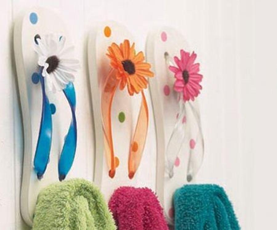 Flip Flop Beach Bathroom Decor Ideas : Flip Flop Bathroom Decor For Flip Flop Wall Art (Image 11 of 20)