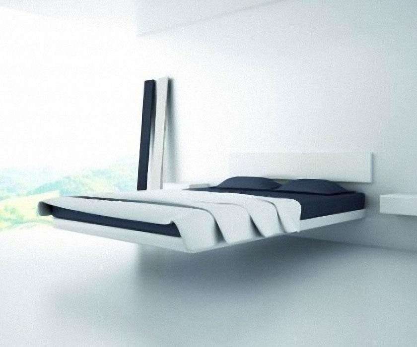 Fluttua Floating Bed | Dudeiwantthat Within Magnetic Floating Sofas (Image 13 of 20)