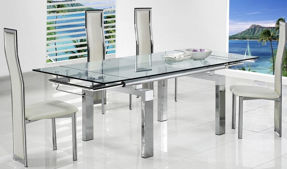 Folding Glass Dining Table Uk – Starrkingschool In Best And Newest Clear Glass Dining Tables And Chairs (Image 17 of 20)