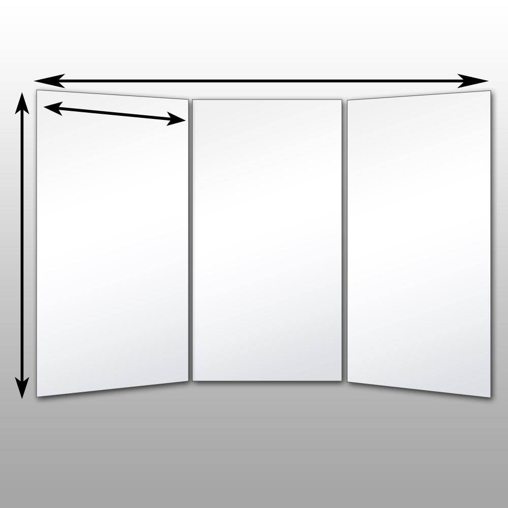 Folding Glassless Mirrors – Free Standing Glassless Mirrors Pertaining To Movable Mirrors (Image 8 of 20)