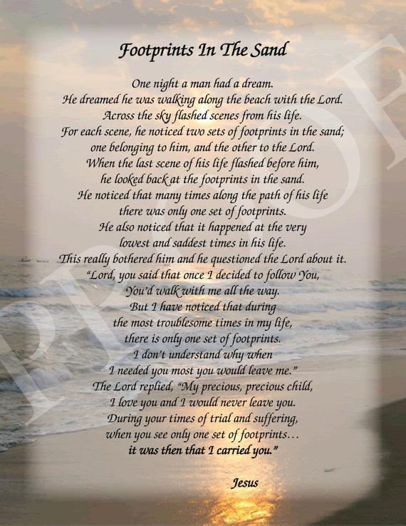 Footprints In The Sand Poem (View 17 of 20)