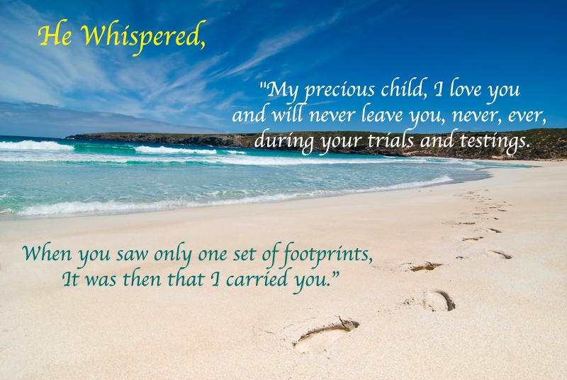 Footprints In The Sand Poem – Gifts, Lyrics, Jewelry And Bible Verses In Footprints In The Sand Wall Art (View 9 of 20)