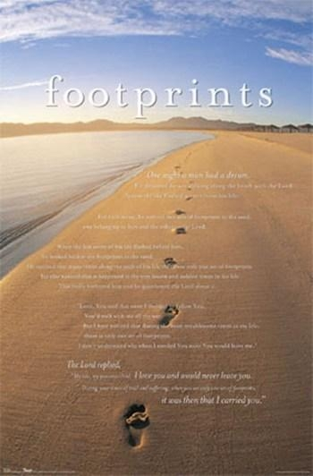 Footprints In The Sand Posters And Art Prints – Christian Pictures In Footprints In The Sand Wall Art (Image 10 of 20)