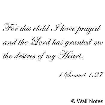 For This Child I Have Prayed – Vinyl Wall Art | Your Walls, Your Throughout For This Child I Have Prayed Wall Art (Image 8 of 20)