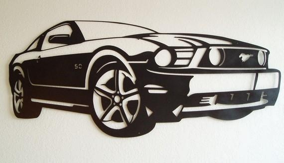 Featured Image of Ford Mustang Metal Wall Art