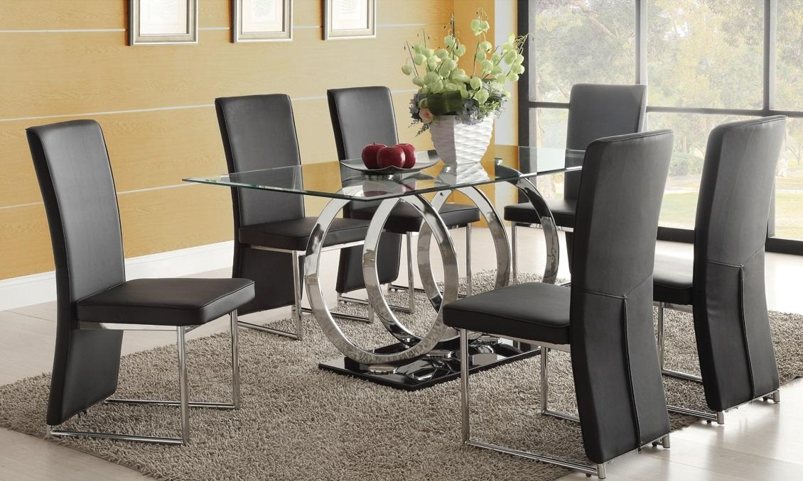 Formal Dining Room Glass Table – Formal Dining Room Tables Design Intended For Recent Black Glass Dining Tables And 6 Chairs (View 19 of 20)