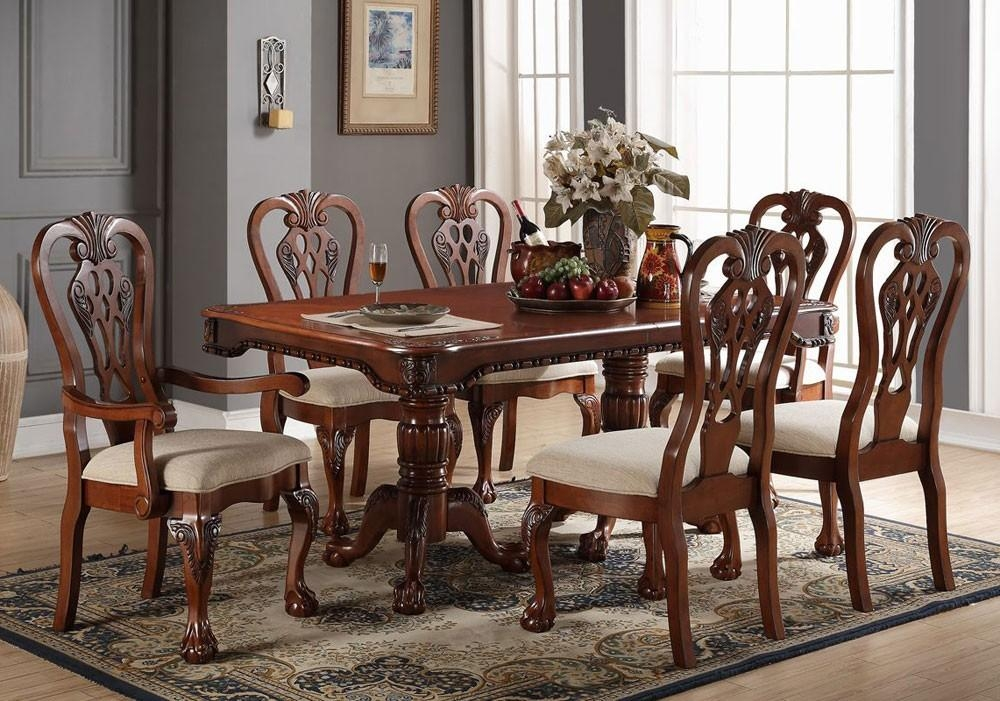 Formal Dining Table Set With 2017 Kingston Dining Tables And Chairs (Image 5 of 20)