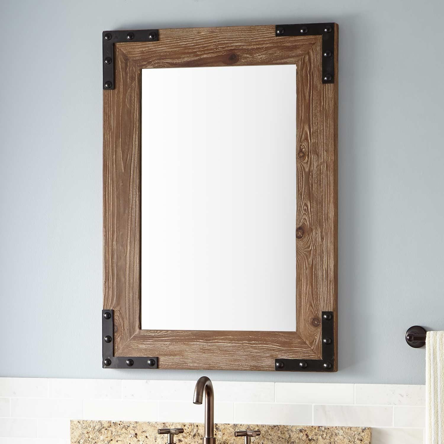 Framed Bathroom Mirrors | Signature Hardware Intended For Natural Wood Framed Mirrors (Image 7 of 20)