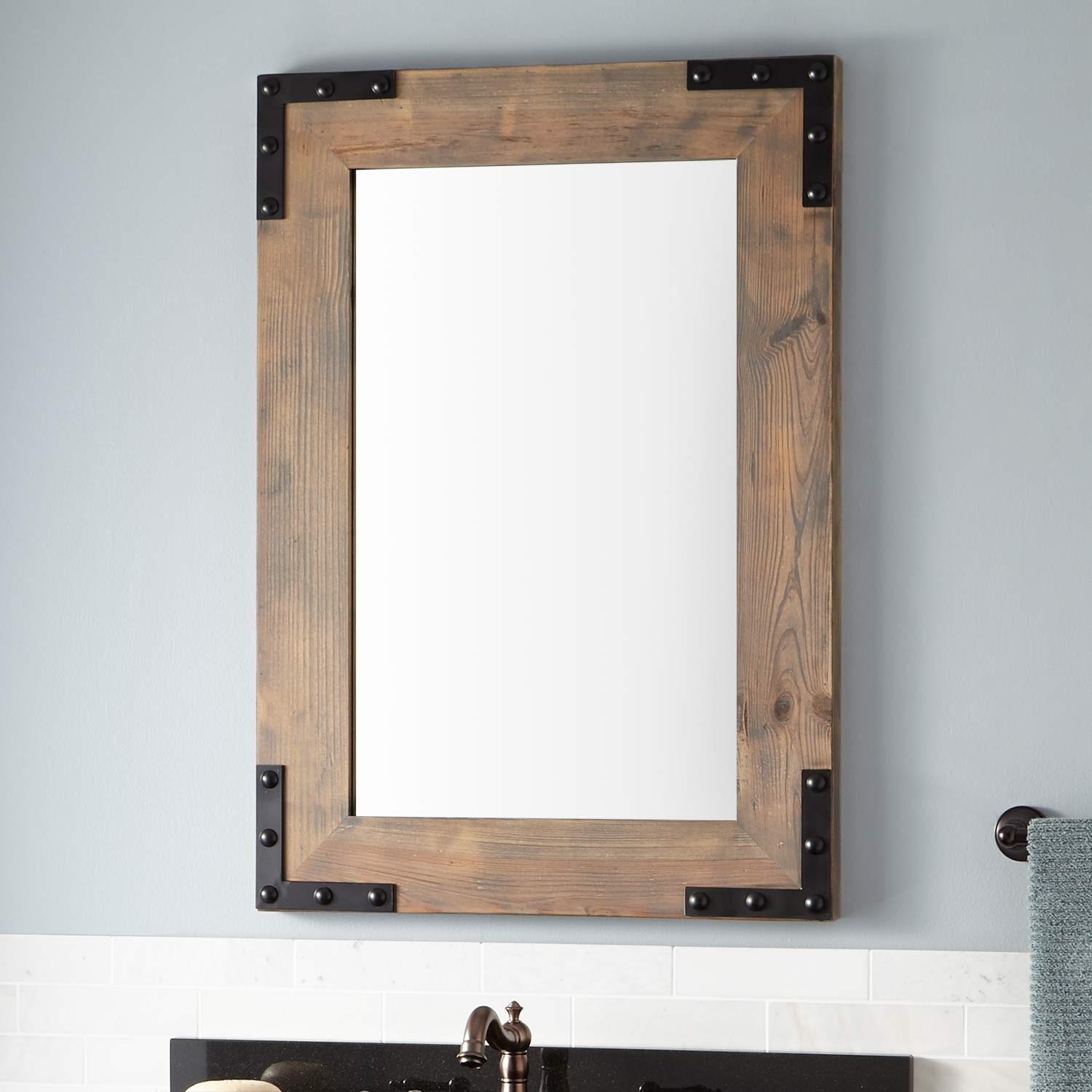 Framed Bathroom Mirrors | Signature Hardware Within Natural Wood Framed Mirrors (Image 8 of 20)