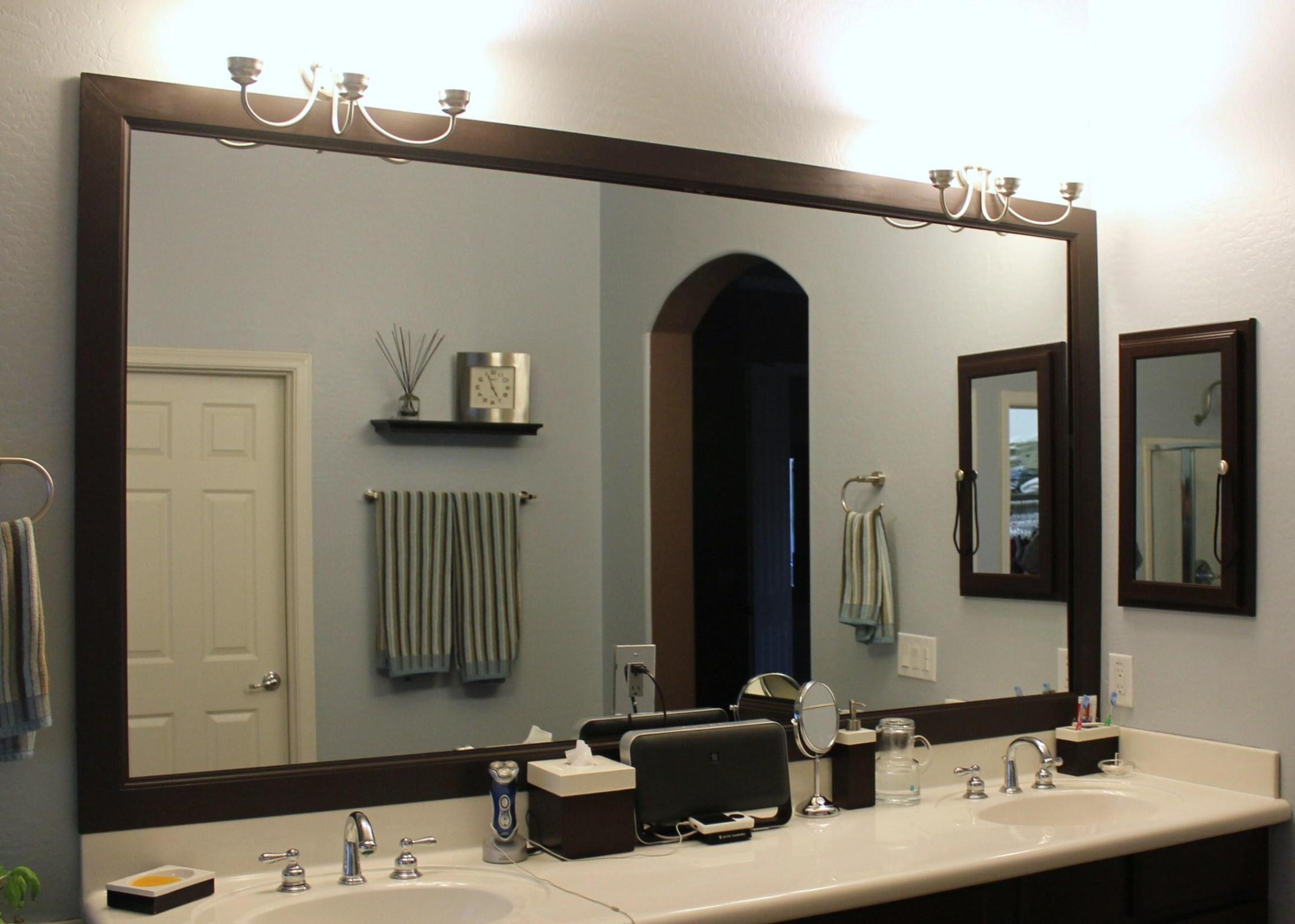 Framed Mirrors Bathroom Vanity Mirrors Large Mirror Decorative Regarding Decorative Mirrors For Bathroom Vanity (View 18 of 20)