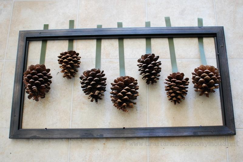 Framed Pine Cones Regarding Pine Cone Wall Art (Image 6 of 20)